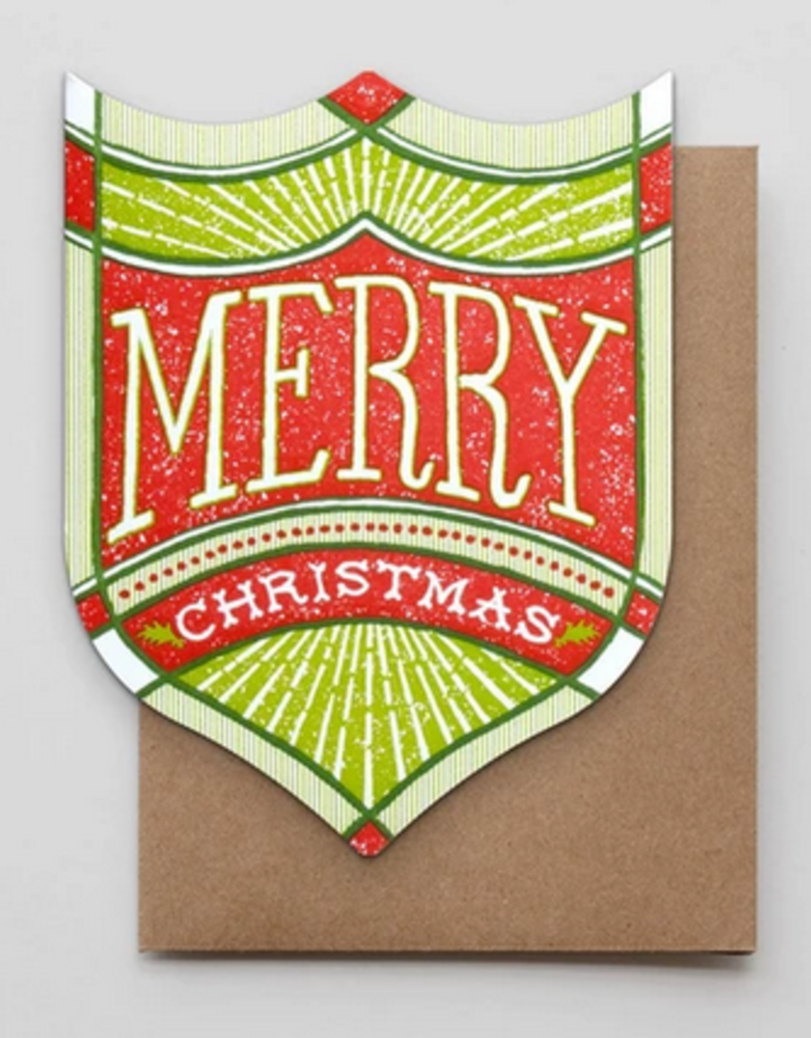 Merry Christmas Badge Greeting Card