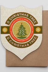 O Christmas Tree Badge Greeting Card