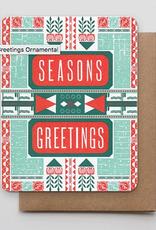 Season's Greetings Ornamental Greeting Card