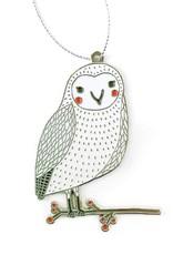 Merriment Owl Enamel Ornament