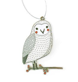 Merriment Owl Enamel Ornament