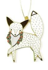 Merriment Fox Enamel Ornament