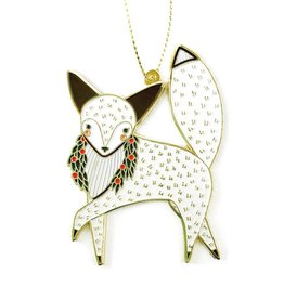 Merriment Fox Enamel Ornament