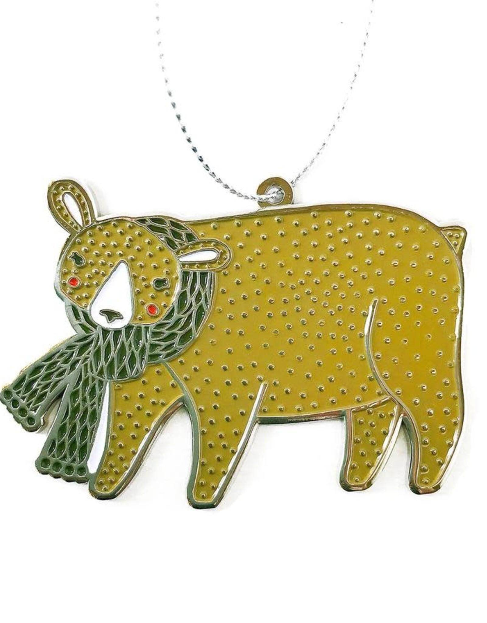 Merriment Bear Enamel Ornament