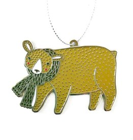 Merriment Bear Enamel Ornament