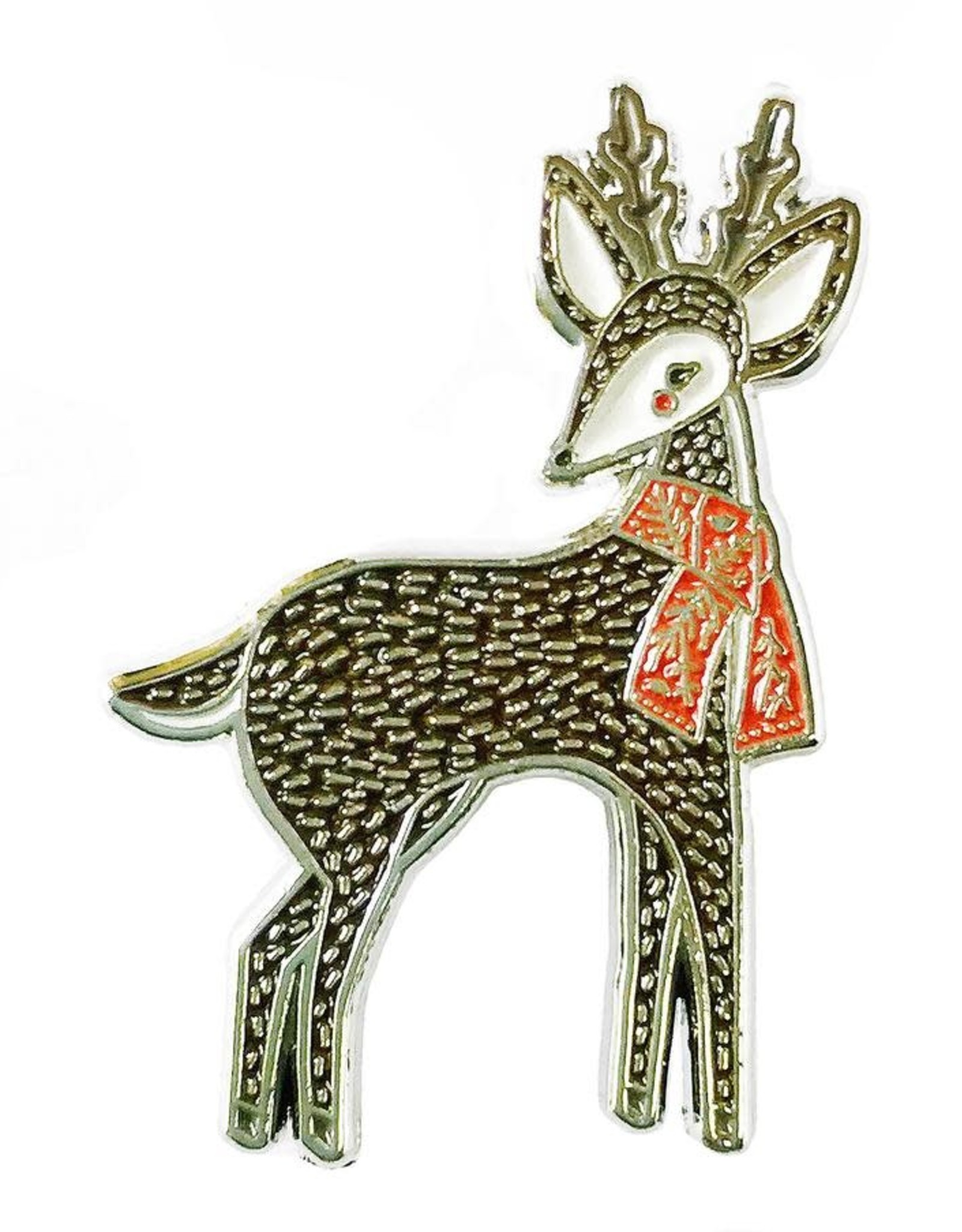 Merriment Deer Enamel Ornament