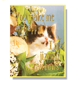 Jizzing Rainbows Greeting Card
