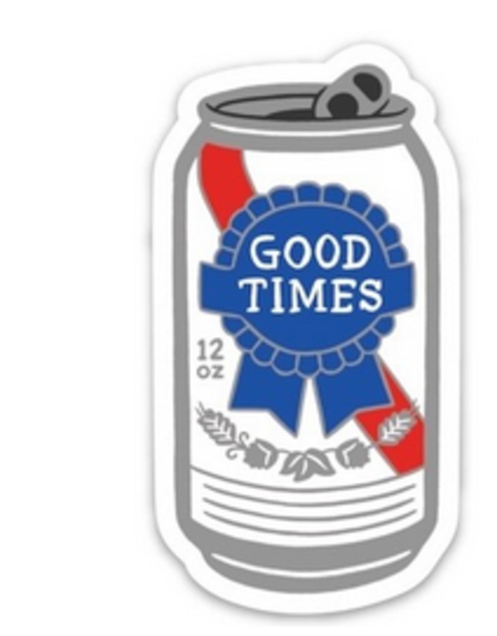 Good Times PBR Beer Sticker