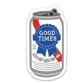 Good Times PBR Beer Sticker