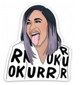 Cardi B Okurrrr Sticker
