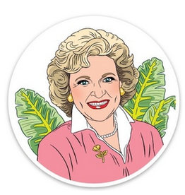 Betty White Golden Girls Sticker