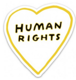 The Found Human Rights Heart Sticker
