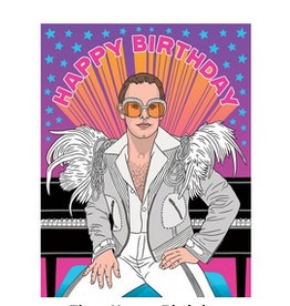 The Found Happy Birthday (Elton John) Greeting Card