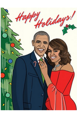 The Found Happy Holidays (Obamas) Greeting Card