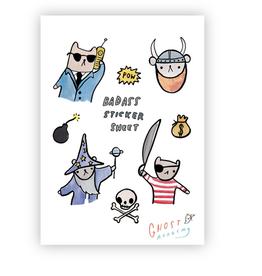 Badass Sticker Sheet