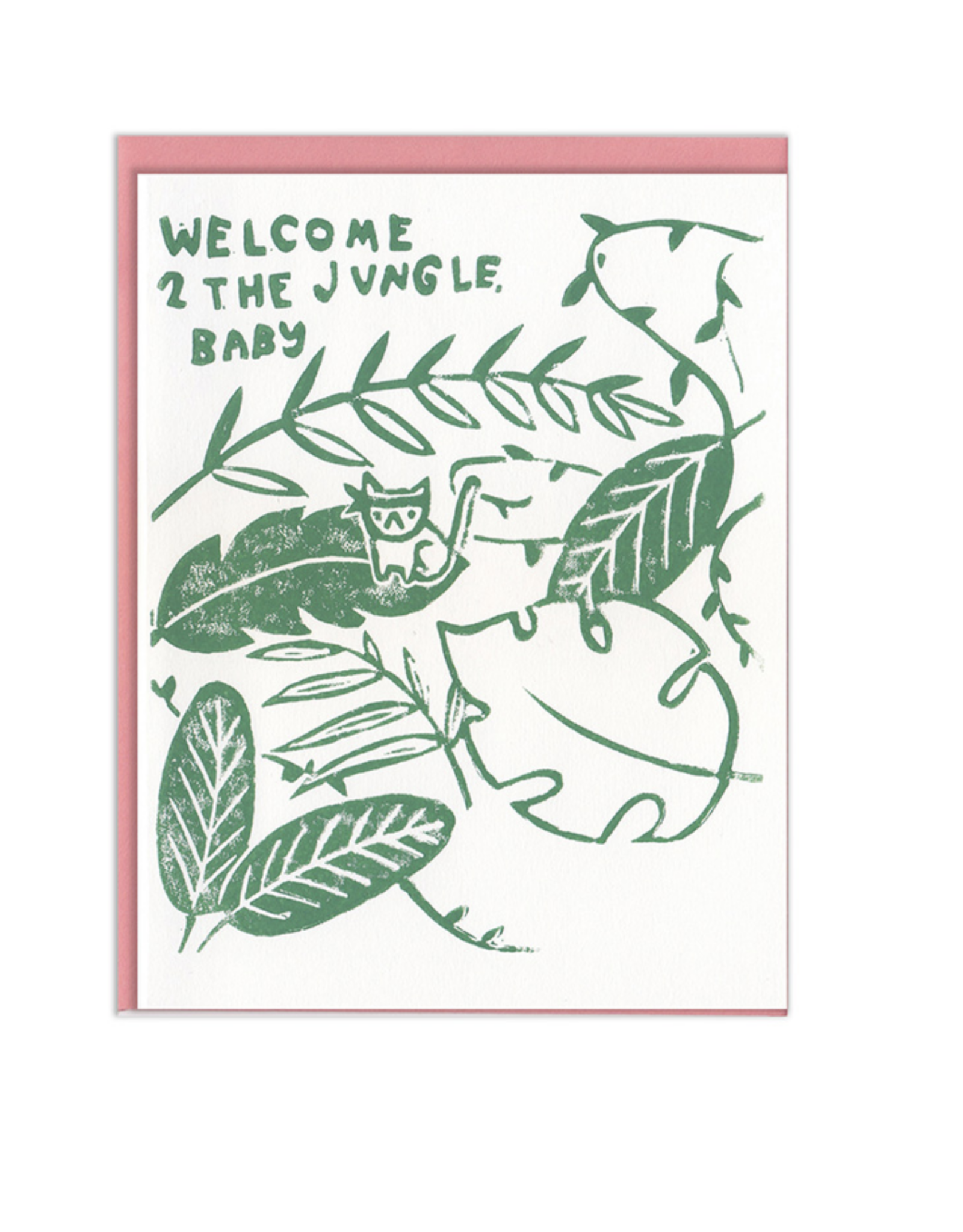 Welcome 2 The Jungle Baby Greeting Card