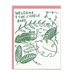 Ghost Academy Welcome 2 The Jungle Baby Greeting Card