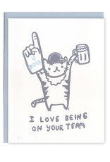 Ghost Academy I Love Being On Your Team Tiger Greeting Card