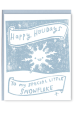 Special Little Snowflake Greeting Card