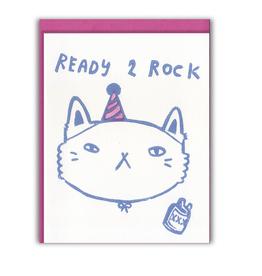 Ready 2 Rock Greeting Card
