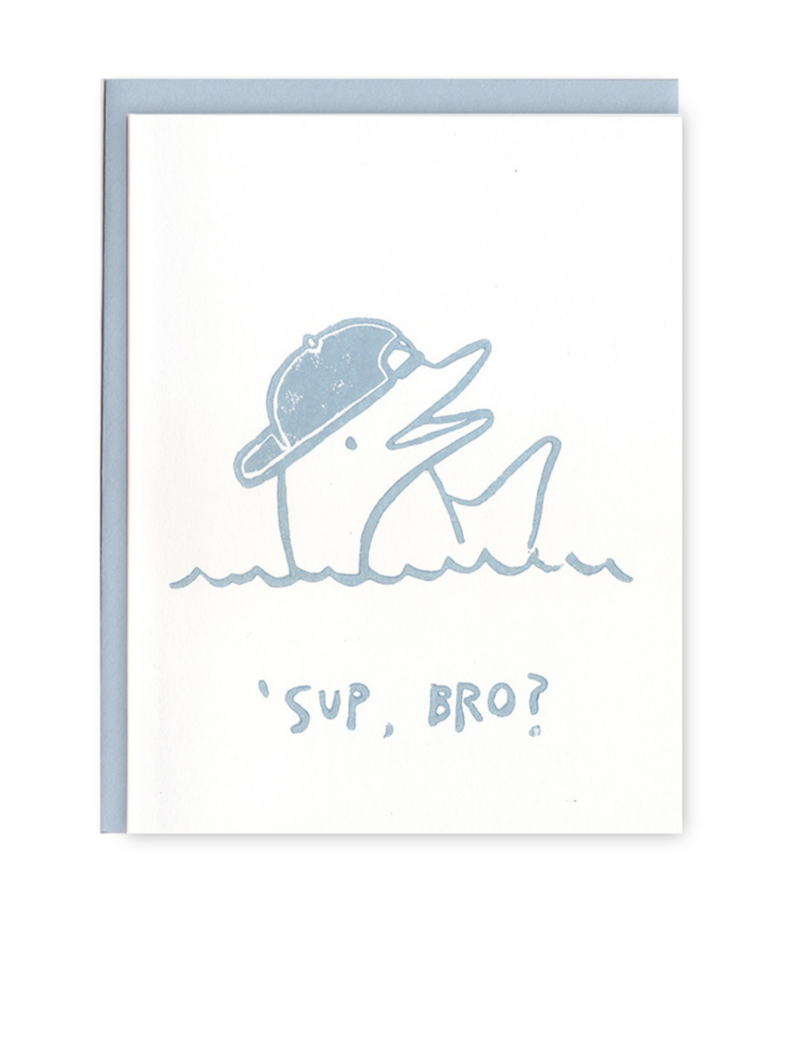 Sup Bro Dolphin Greeting Card
