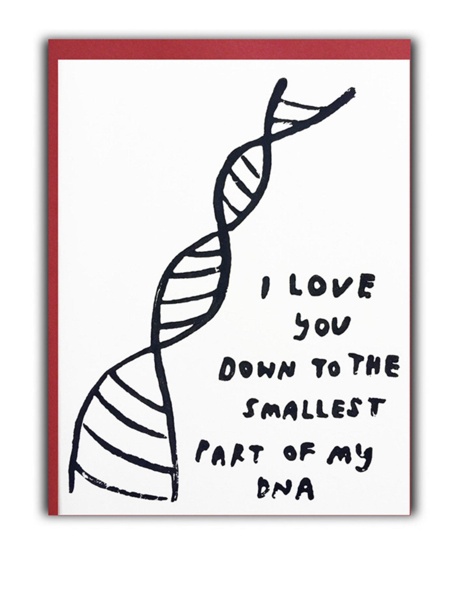DNA Love Greeting Card