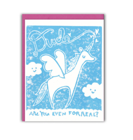 Ghost Academy Pegacorn Dude, Are You Even Forreal? Greeting Card