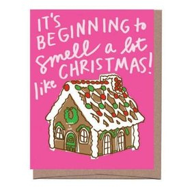 Scratch n Sniff Gingerbread House Greeting Card
