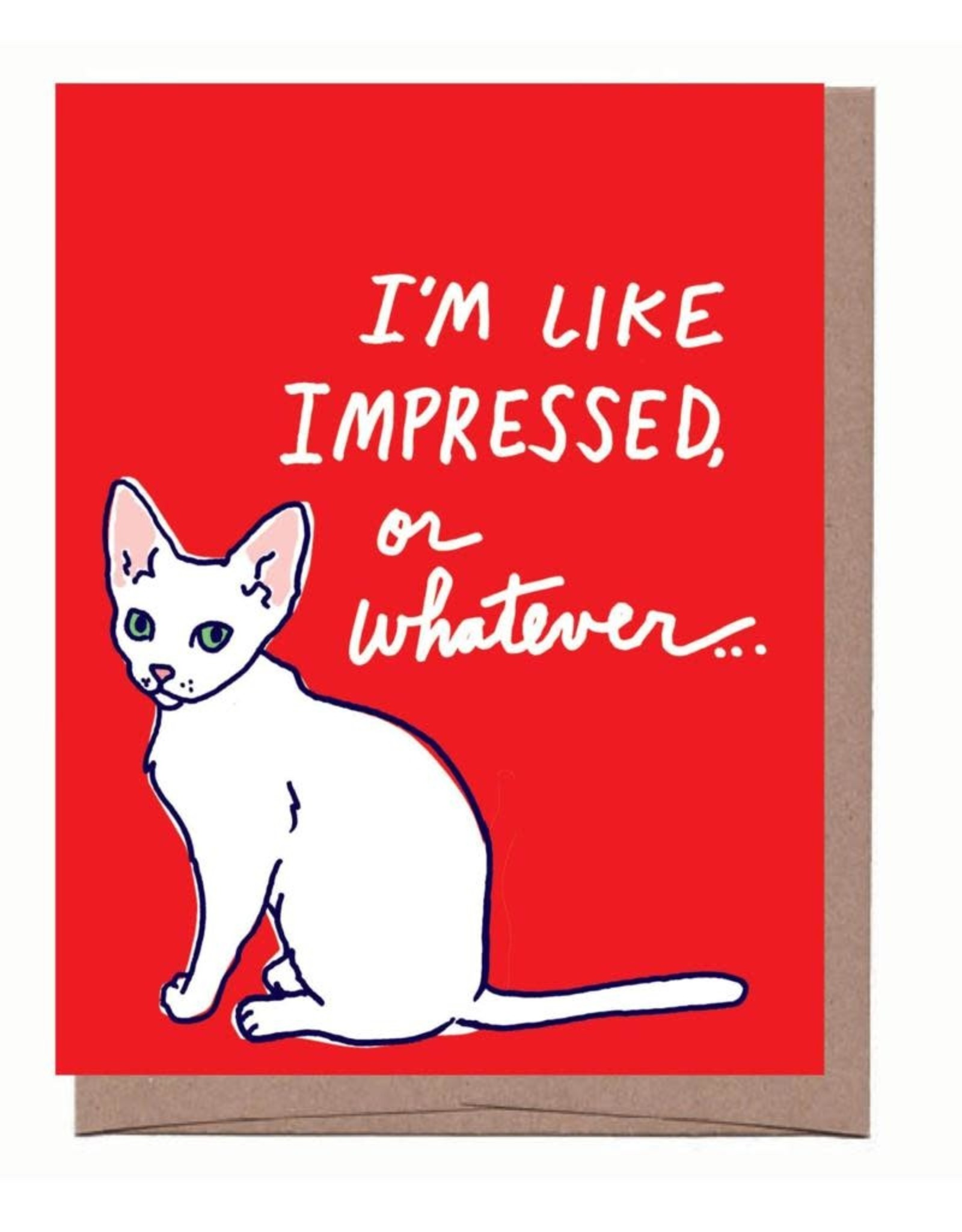 Impressed or Whatever (Cat) Greeting Card