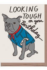 Dog Vest Birthday Greeting Card