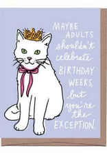 La Familia Green Birthday Week (Cat) Birthday Card