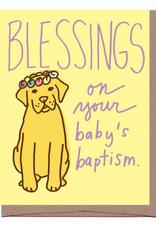 Baptism Pup Greeting Card