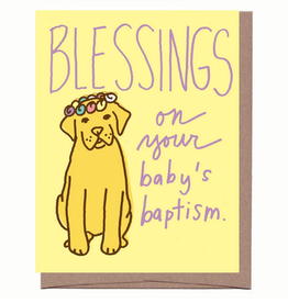 La Familia Green Baptism Pup Greeting Card