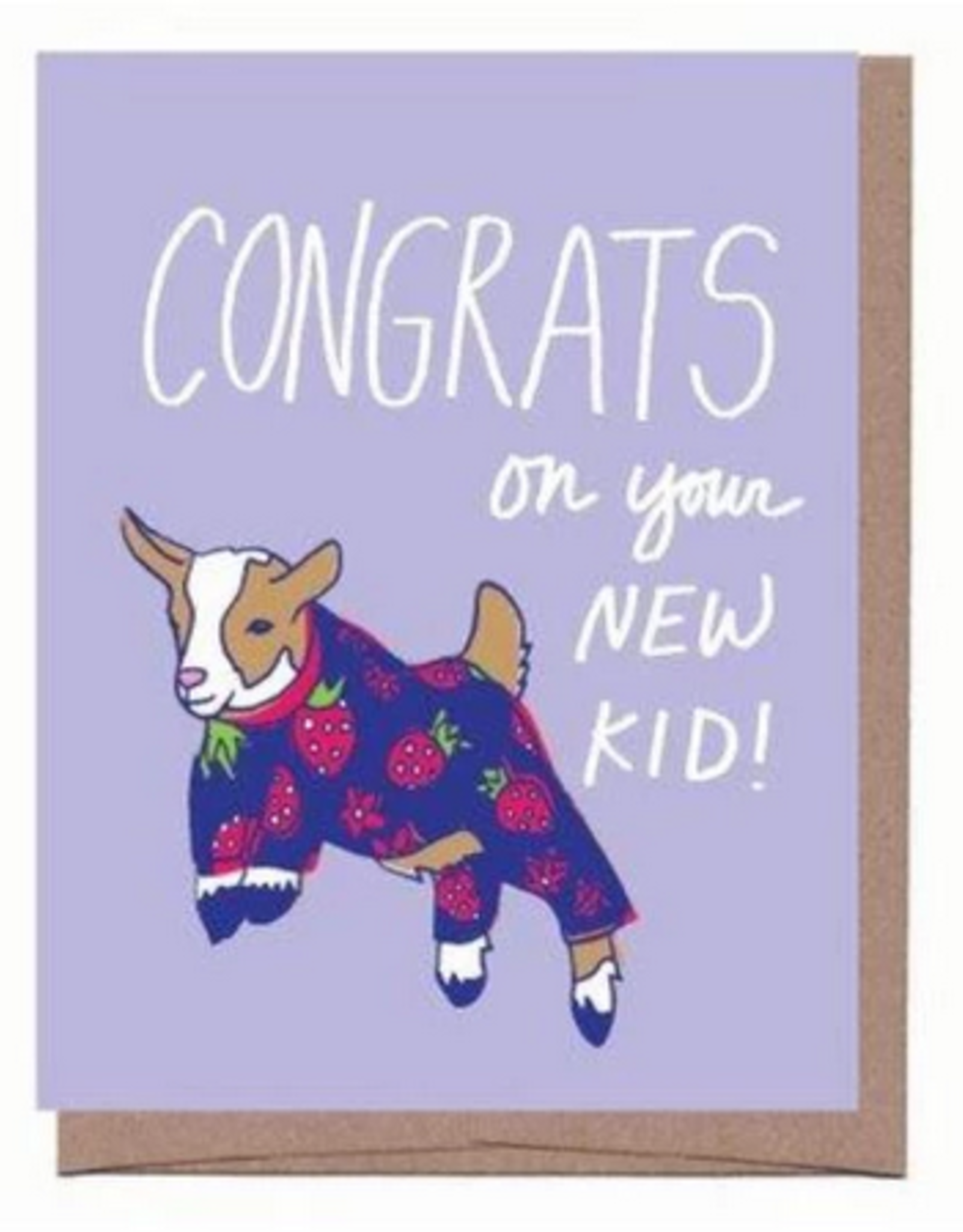 Baby Goat Congrats Greeting Card