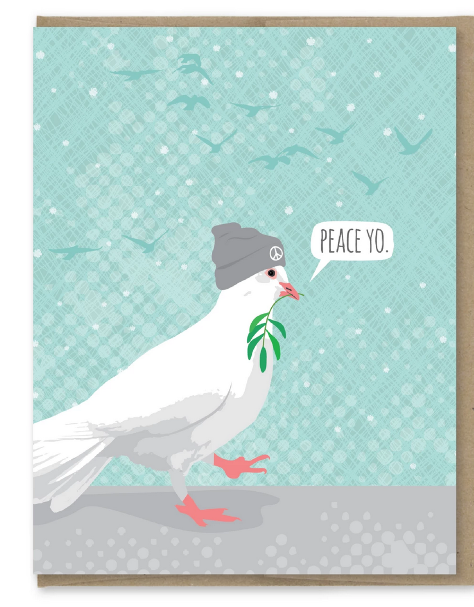 Peace Yo Dove Greeting Card