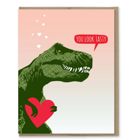 You Look Tasty T-Rex Greeting Card