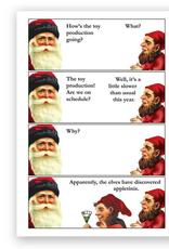 Elves & Appletinis Greeting Card
