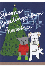 La Familia Green Providence Dogs Holiday Greeting Card