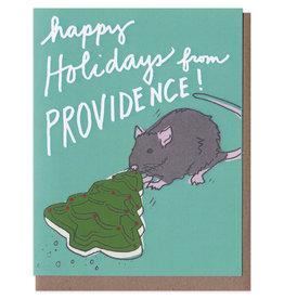 La Familia Green Providence Rat Holiday Card Box Set