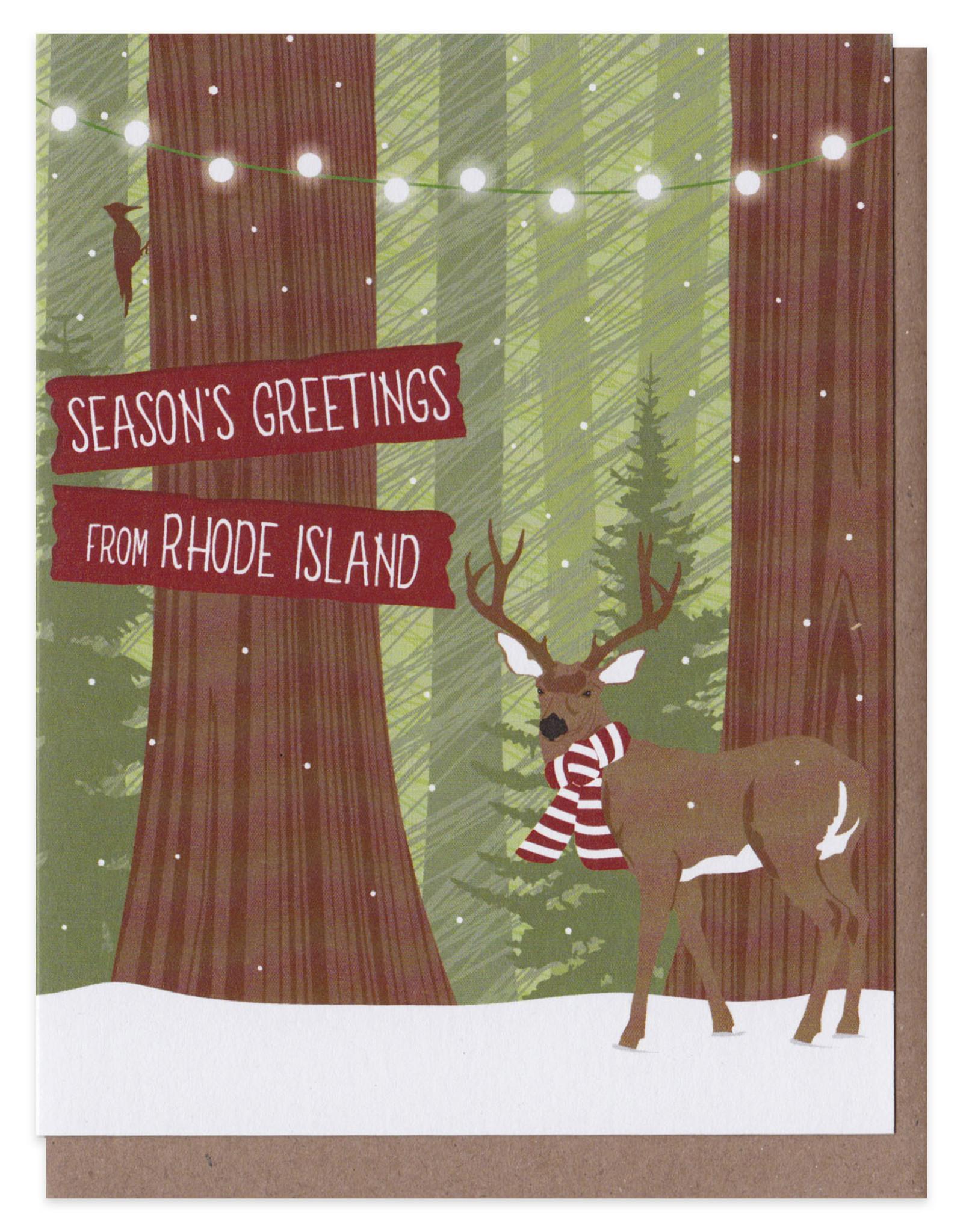 Season's Greetings From RI (Deer Scarf) Boxed Set