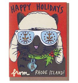 La Familia Green Rhode Island Alpine Cat Holiday Card Box Set