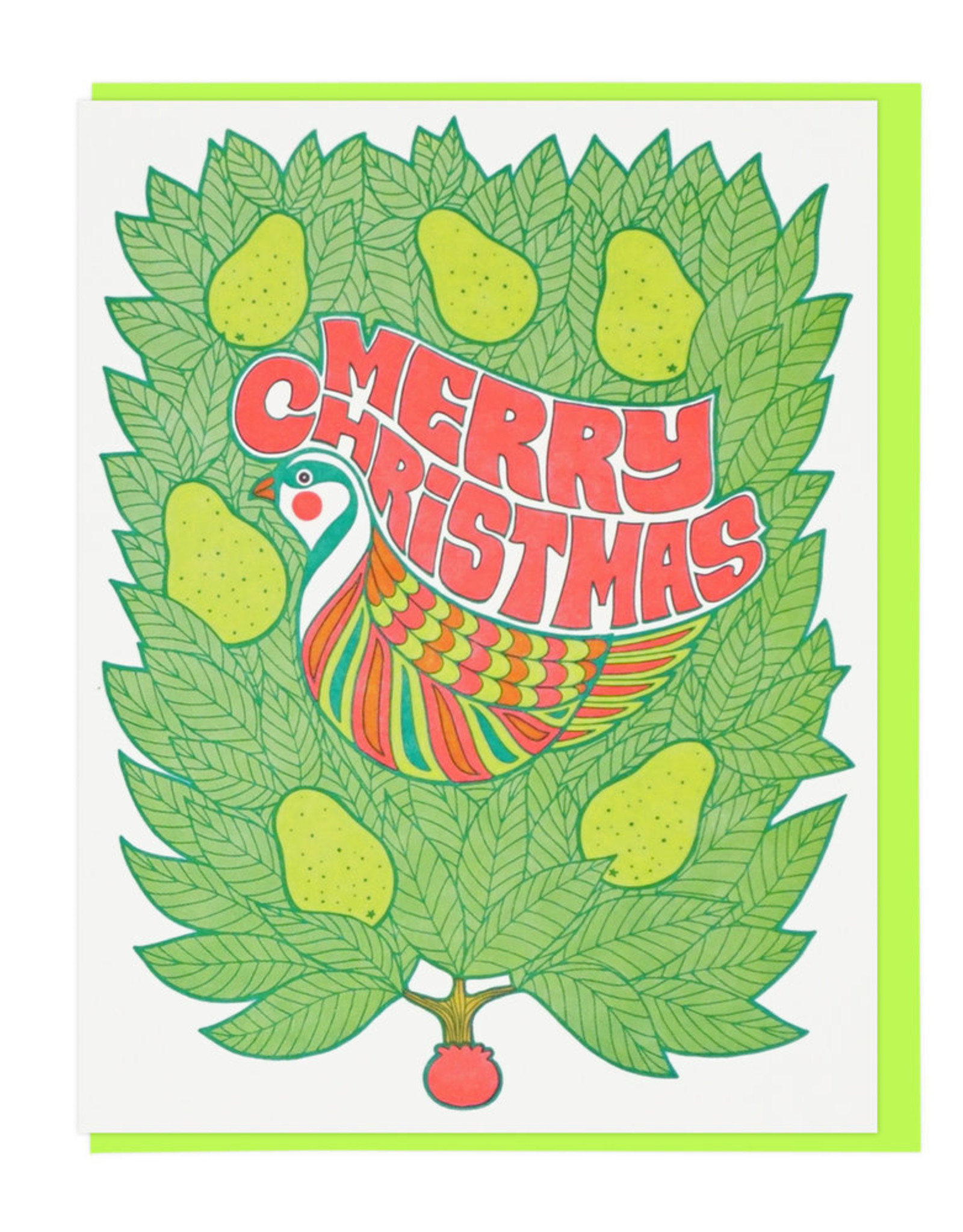 Christmas Partridge in a Pear Tree Greeting Card