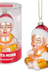 Accoutrements LLC Santa Monk Glass Ornament