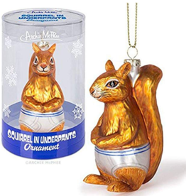 Squirrel Underpants Ornament