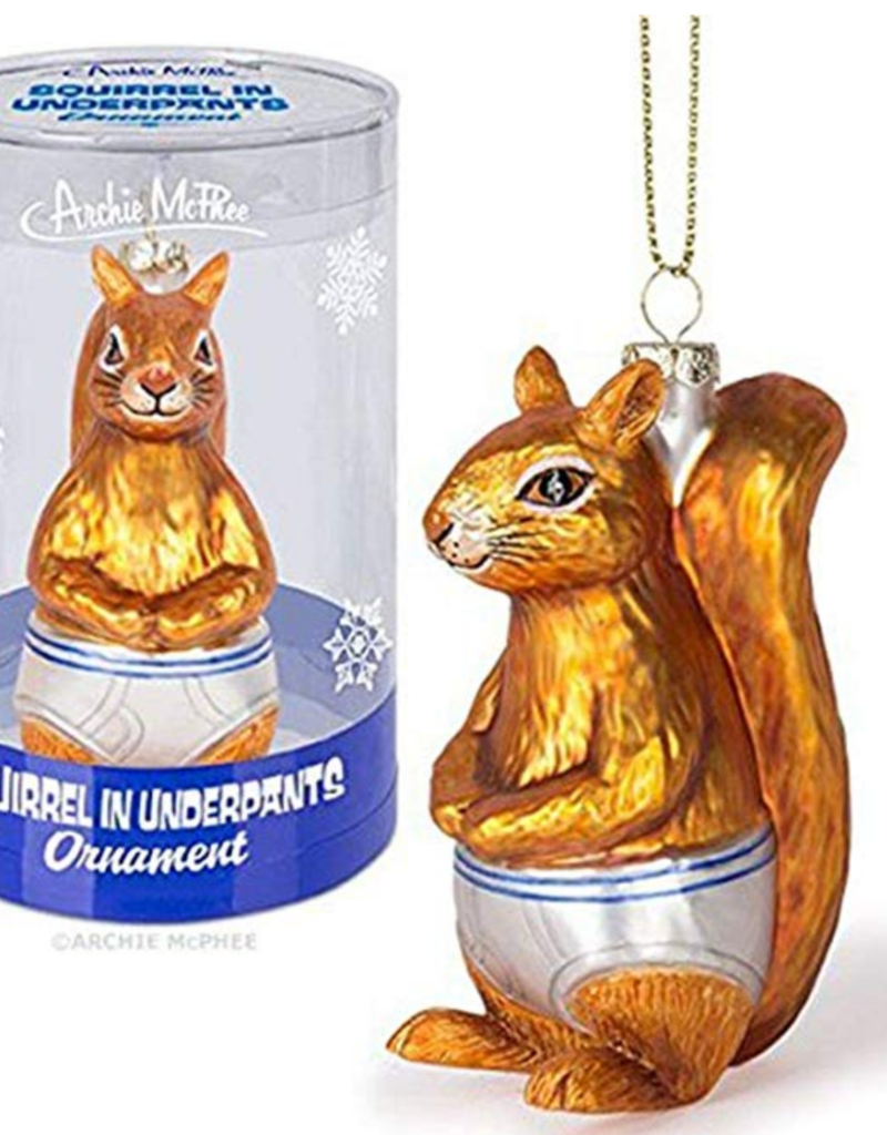 Accoutrements LLC Squirrel Underpants Ornament