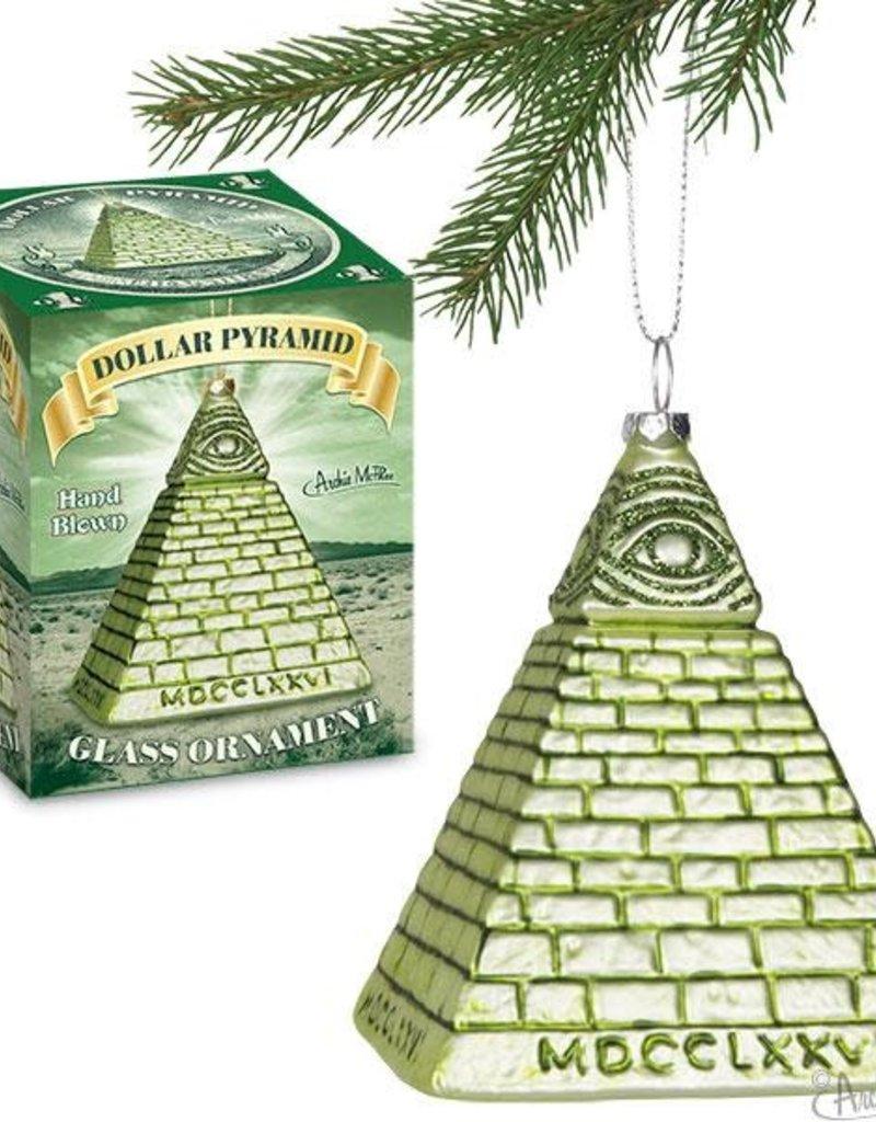 Accoutrements LLC Dollar Pyramid Ornament