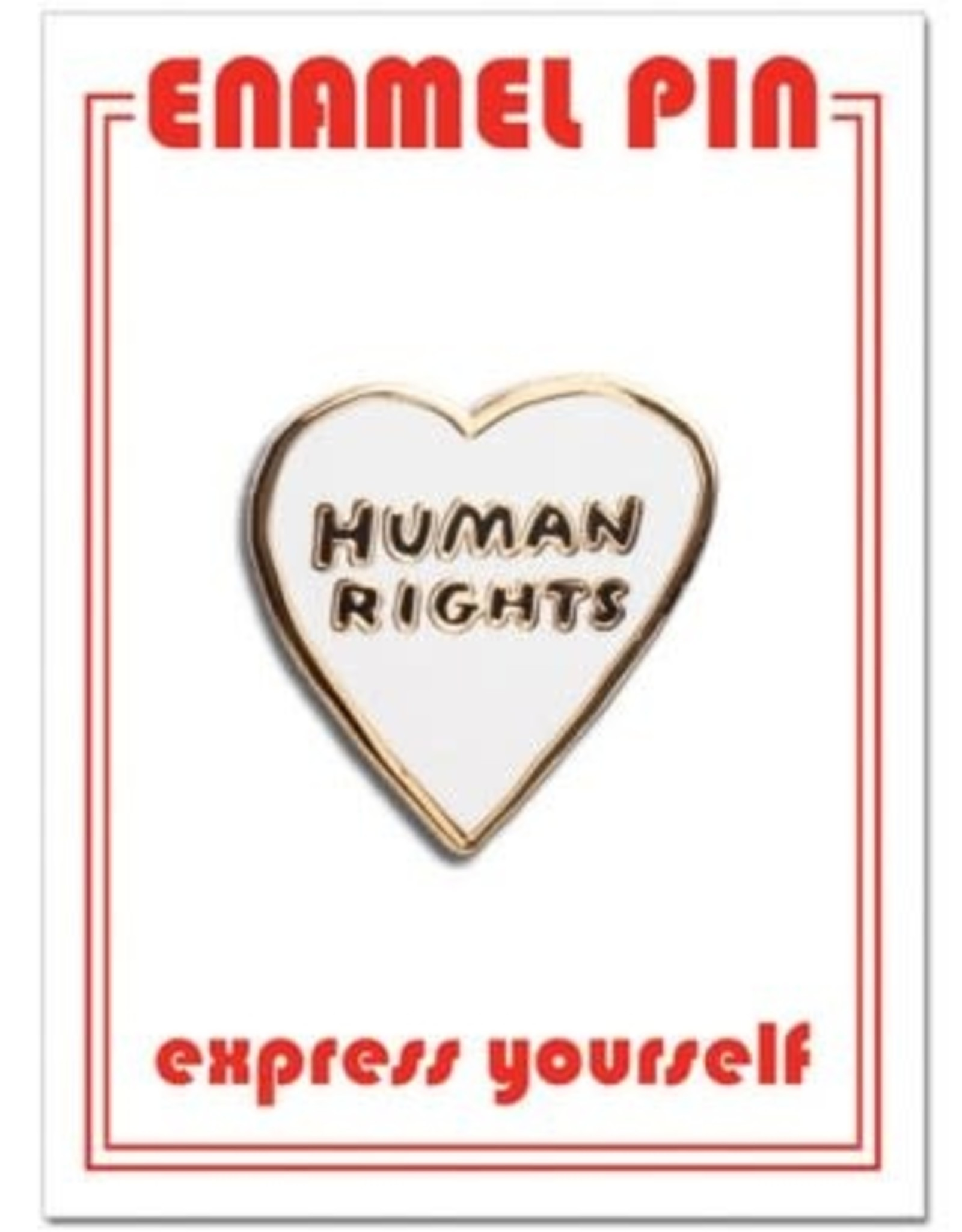 Human Rights Heart Enamel Pin