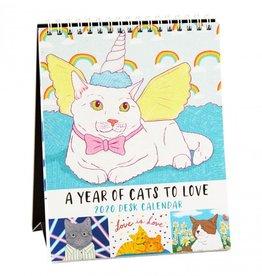 The Found Cats to Love 2020 Desk Calendar