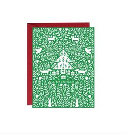 Paula & Waffle Green Merry Christmas Scene Boxed Set
