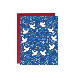 Paula & Waffle Blue Doves Happy Holidays Boxed Set